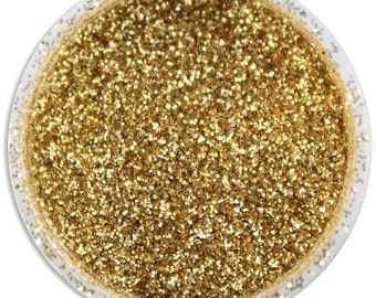 Soft Gold Disco Dust - sparkly glitter for decorating cookies, cakes, cupcakes, and cakepops