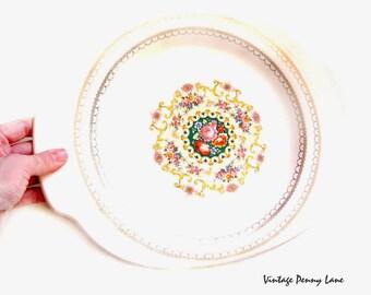 Vintage Limoges Cake Plate / Platter, 22K Gold Trim