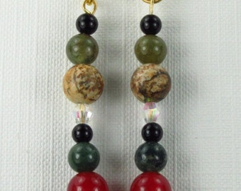 Number 910. Random Bead Earrings