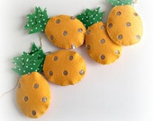Pineapple Garland - sunburnt yellow and gold or hot pink and gold