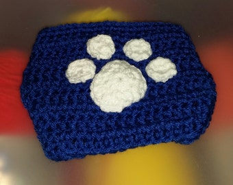 Paw Print Diaper Cover, University of Kentucky, Photo Prop,  made to order