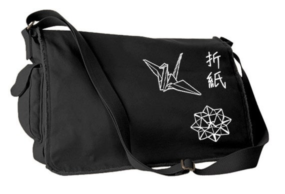 Origami Messenger Bag traditional japanese bag cute origami