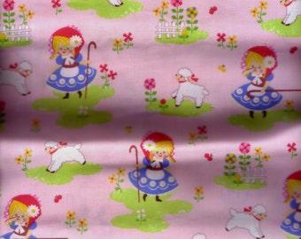 Half Yard Japanese Cotton Fabric Mary Had A Little Lamb Little Bo Peep Fairy Tales 4 to choose