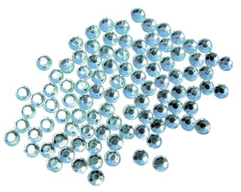 Faceted acrylic rhinestones clear embellishments  4mm 600 pieces