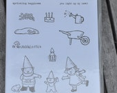 Gnome Sweet Gnome Stampin' Up! Retired Set of 12 Stamps NIP