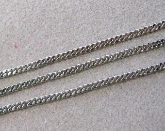 Antique Silver Twist Cut Curb Chain 4mm x 5mm Nickel Free 398