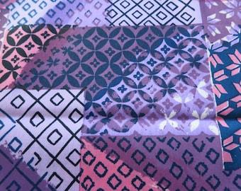 Incredible Ikat  - Hand printed cotton fabric - Half Yard