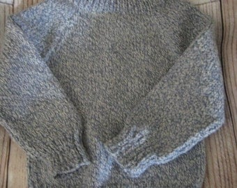 toddler tweed sweater, knit pullover, size 1 - 2