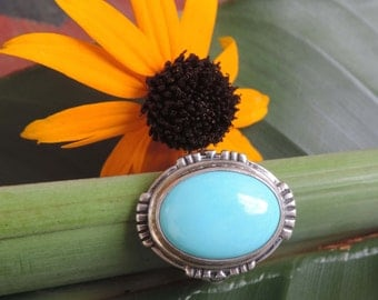 Vintage Turquoise Sterling Silver Ring