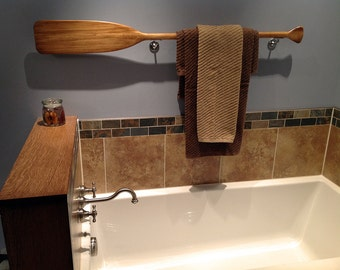 Stained Paddle or Oar in 3 lengths in Brown / Gray / Blue / Nautical Nursery Decor / Beach / Cabin / Canoe Paddle