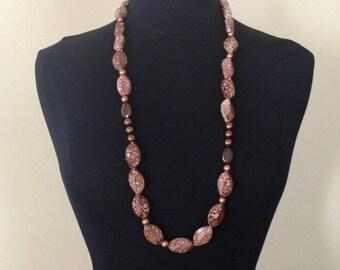 SAFARI brown animal print necklace
