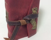MD Custom Leather Travel Journal with compass and maps - Initials included