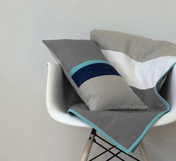 Items Similar To Grey Colorblock Throw Modern Color Block
