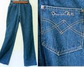 CLEARANCE SALE: Oscar De La Renta Jeans / 80s High Waist Jeans / High Rise Jeans / Designer Jeans
