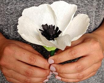 Handmade crepe paper anemone