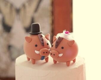 warthogs  Wedding Cake Topper----k722