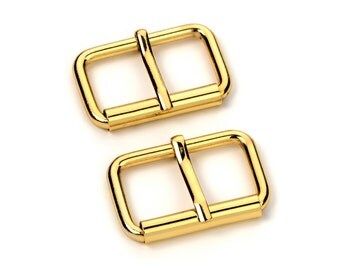 """10pcs - 1 1/4"""" Roller Pin Belt Buckles - Gold - Free Shipping (ROLLER BUCKLE RBK-117)"""