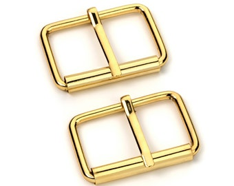 """50pcs - 1 1/2"""" Roller Pin Belt Buckles - Gold - Free Shipping (ROLLER BUCKLE RBK-121)"""