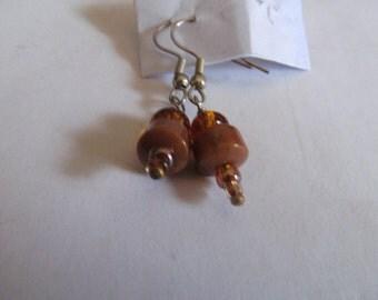brown amber dangles