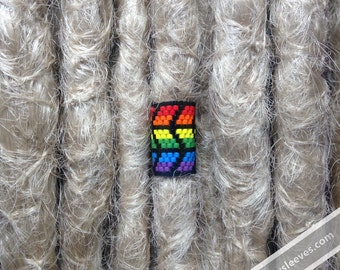Rainbow Waves Dread Sleeve, Dreadlock Accessory, Loc Cuff Jewelry