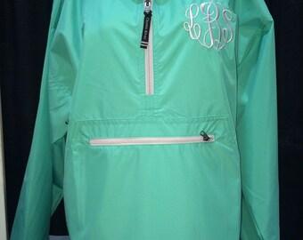 Monogrammed preppy rain jacket/pullover