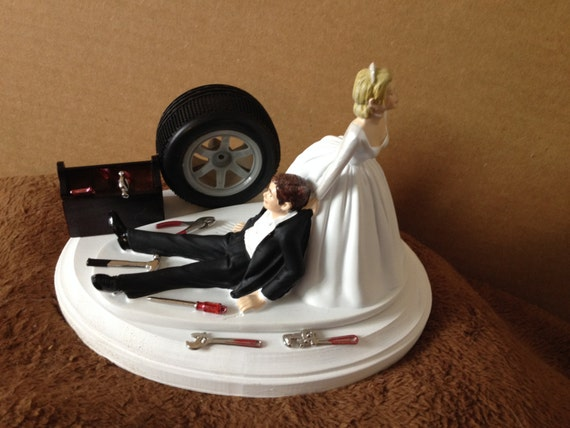 mechanic wedding cake toppers cake topper wedding day groom auto mechanic 17250