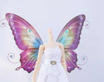 1/6 OOAK Butterfly wings for Dolls - Avatar - Blue Purple