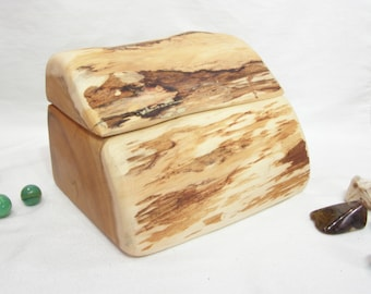 Pacific Yew Tree Trunk Wooden Box, wood art, 5th anniversary, wedding gift, small cremation urn, wooden jewelry box, desk accessory