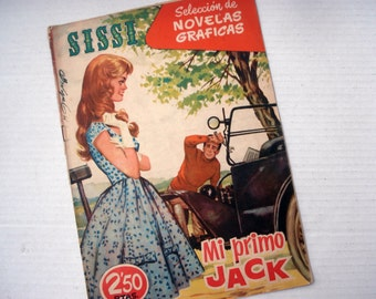 FOUND IN SPAIN -- One edition of Sissi pop comic book - 1960s Spain - Mi primo Jack