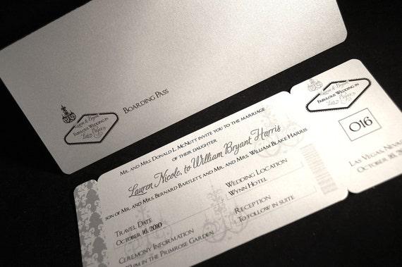 boarding pass invitation - SAMPLE