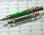 Hancrafted Pen 5 Speed Gearshift Pen Gold and Green