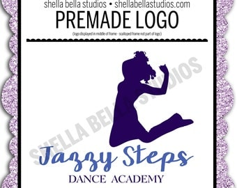 premade dance logo custom logo professional logo business logo cute dance logo modern logo dance logo design trendy logo cute dancer logo