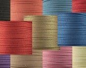 Faux Suede Cord By the Yard CHOICE Black Blue Pink Gold Purple Tan Ivory Red 3mm thick (1013cor03m1)