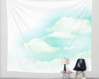 """51"""" x 60"""" + Wall Tapestry, Polyester Photography Backdrop, Home, Nature, Fine Art, Inspirational, Dreamy, Cloud, Blue Sky, Wedding, Baby"""