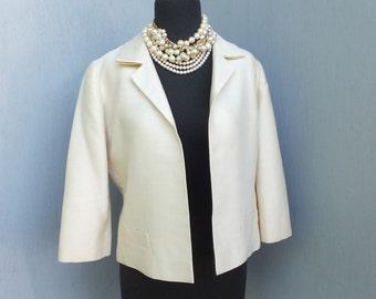 Classic 1950s I. Magnin Creamy White Jacket