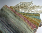 Handwoven Silk/Wool Scarf: Tambourin Chinois