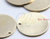 20pcs Raw Brass Round Disc - Blank 18mm (1797C-F-597)