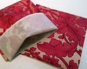 Lined Sandwich Bag--Pink Floral on Pink