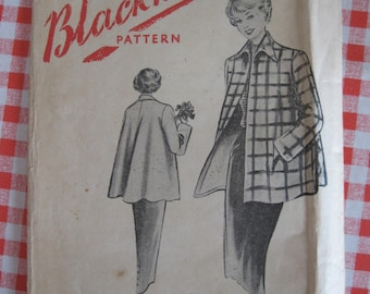 "1950s Coat - 34"" Bust - Blackmore 7488 - Vintage Sewing Pattern"