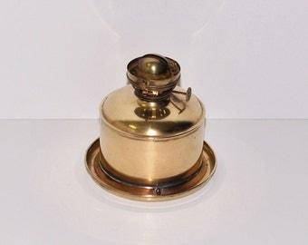 Antique Perko Nautical Ship Brass Oil Lamp