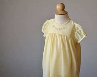 1950s Buttercup Spring Dress~Size 6 Months
