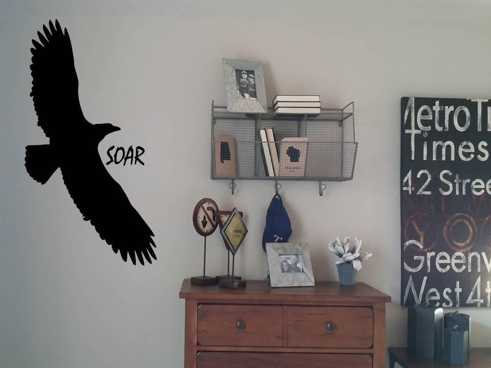 Wall Decals Eagle with the word SOAR Wall DecalWall Sticker