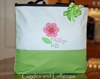 Personalized flower girl tote gift wedding bride