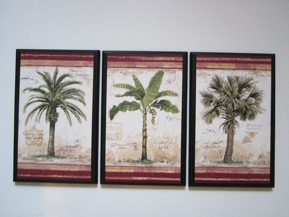 Palm Trees 3 Tropical Spa Bathroom Wall Decor Plaques Signs