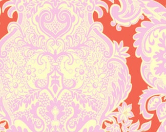 Amy Butler Love Sandlewood in Tangerine Cotton Fabric  - 1 Yard