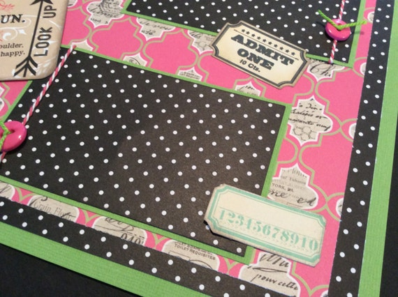 Pink Scrapbooking Scrapbook Page Pink