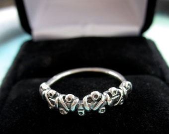 Unique Southwest cross laced sterling silver ring- cool silver ring