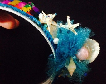 Childs Sea Princess Head piece Authentic Ocean Starfish MADE TO ORDER
