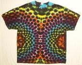 Tie Dye tshirt, Rainbow Leopard Adult 2XL