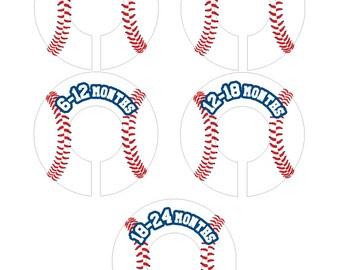 Baseball Baby Closet Dividers Organizer Clothing Dividers